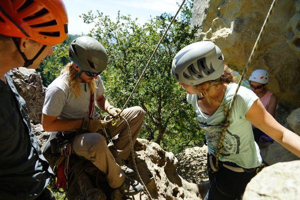 rock climbing at caste rock